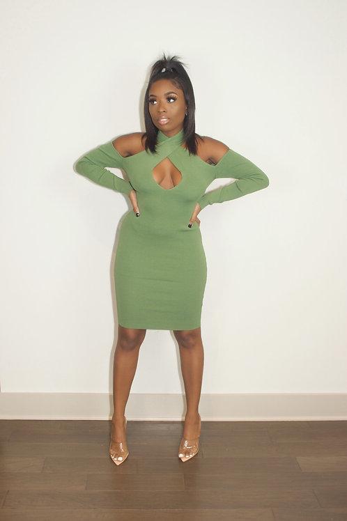 Money Green   Mini Dress