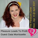 Pleasure leads to profit on the pleasure