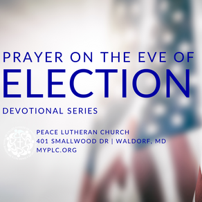 Prayer on the Eve of Election | Wednesday, Oct. 28