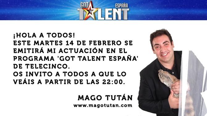 Este martes 14 de febrero actúo en Got Talent España