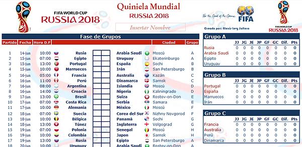 descargar excel mundial 2018 quiniela