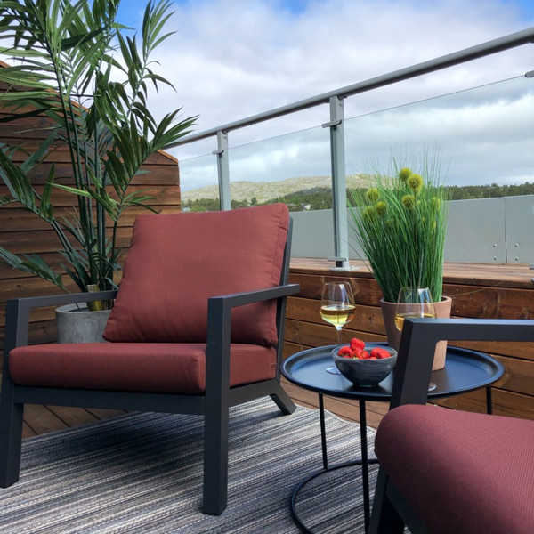 Penthouse stil på terrassen