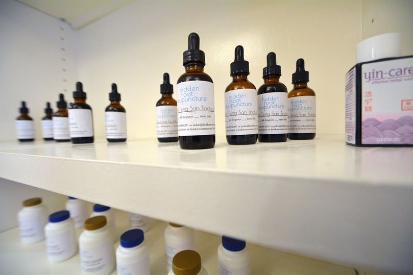 Tinctures, Herbal Formulas, and medicine at Hidden Root Acupuncture