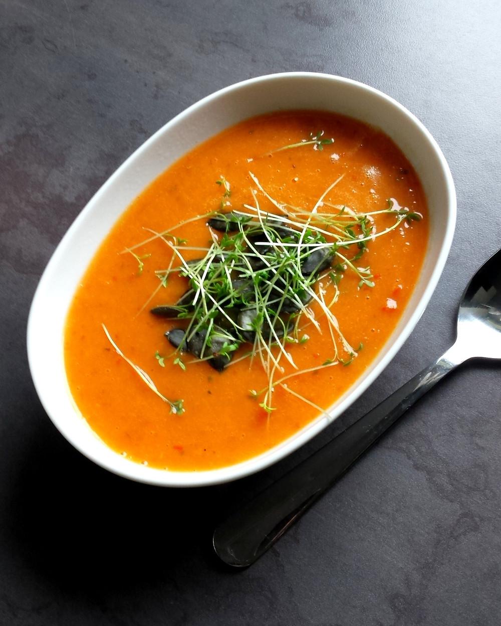 Zupa krem paprykowo- marchewkowy