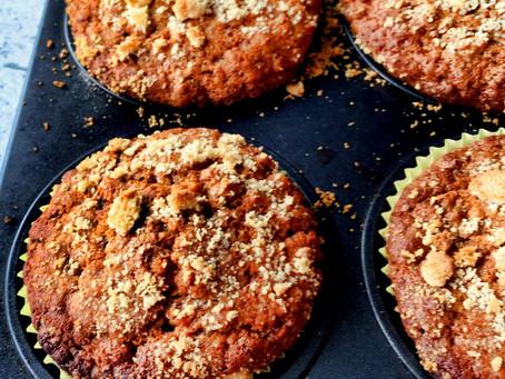 Bezglutenowe muffiny marchewkowe (277kcal)