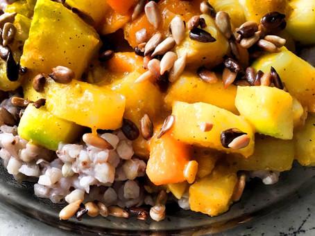 Kaszotto z dynią i cukinią (321 kcal)