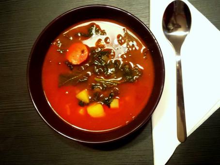 Portugalska zupa Caldo verde (322 kcal)