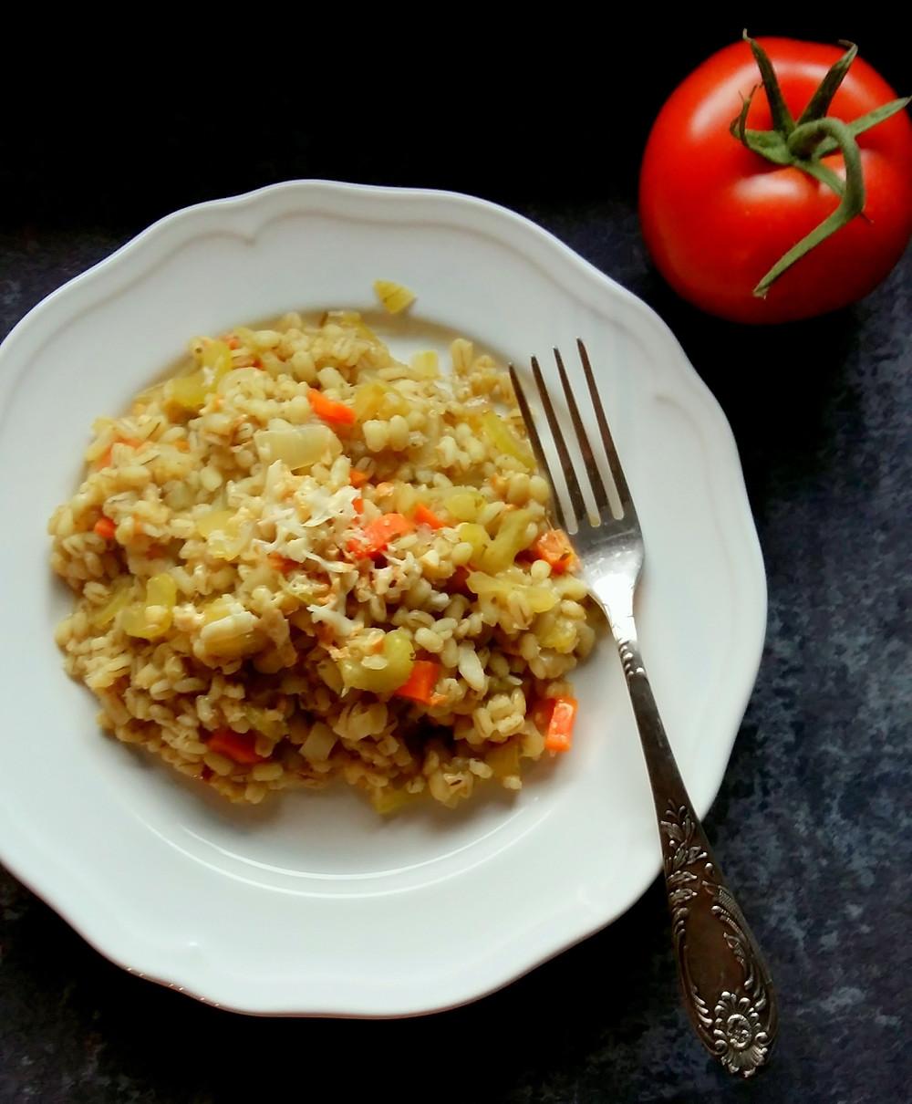 Kaszotto z wędzonym serem (393 kcal)