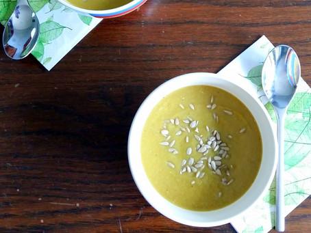 Krem z zielonej papryki i selera naciowego (238 kcal)