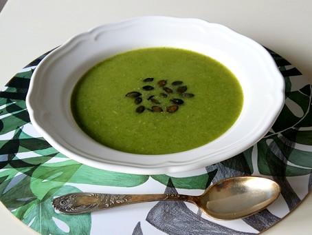Krem brokułowo- rzodkiewkowy (255 kcal)