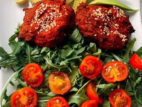 Kotlety z soczewicy i buraków (370 kcal)