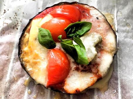 Bakłażanowe pizzerinki z serem pleśniowym (239kcal)