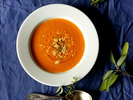Krem marchewkowy z soczewicą (269 kcal)
