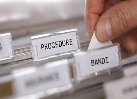 Il flusso procedimentale della procedura di gara di LAVORI, FORNITURE SERVIZI  (Tre giornate 05 e 18 Febbraio e 5 Marzo 2021)