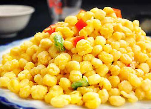 金沙玉米 Sweetcorn Cooked with Egg Yolk