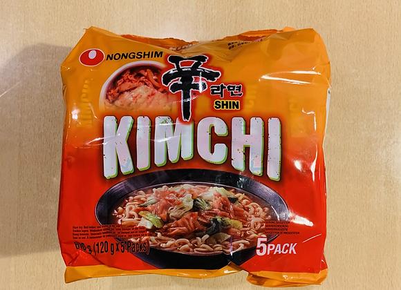 农心泡菜面 5×120g Nongshim Kimchi Ramyun(Multi)