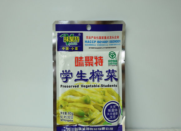 味聚特学生榨菜 80g WJT Pickled Vegetables for Students