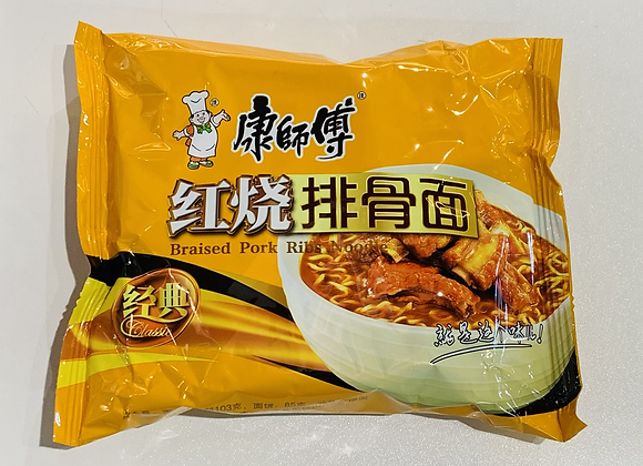 康师傅红烧排骨面 100g KSF Instant Noodles-Roasted Artificial Pork Flavour