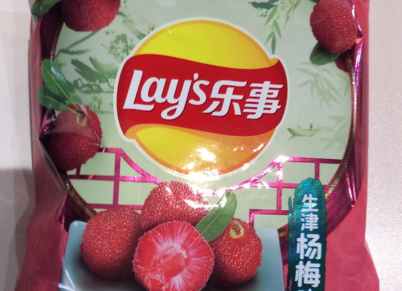 乐事薯片-生津杨梅味 60g Lay's Potato Crisps-Bayberry Flavor