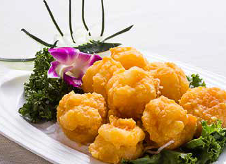 金沙虾球 King Prawn Balls Cooked with Egg Yolk