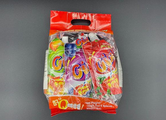 喜之郎Cici果冻6支提袋 900g ST 6 bags Assorted Jelly Drinks