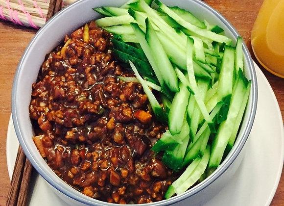 炸酱面 Cold Noodles with Soybean Paste