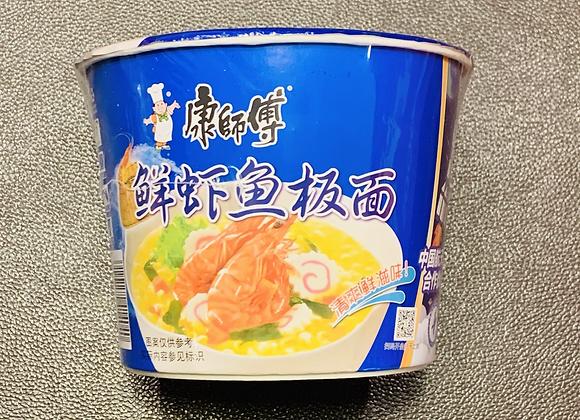康师傅桶面-鲜虾鱼板 113g KSF Instant Bowl Noodles- Fish  Flavour