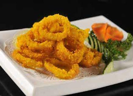 金沙鱿鱼圈 Squid Rings Cooked with Egg Yolk