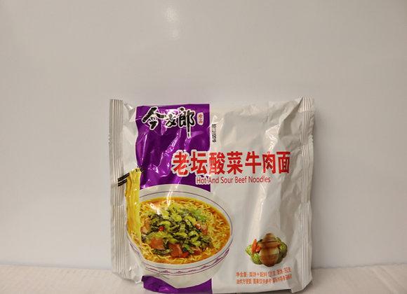 今麦郎老坛酸菜牛肉面 120g JML Instant Noodles-Beef Pickled Mustard