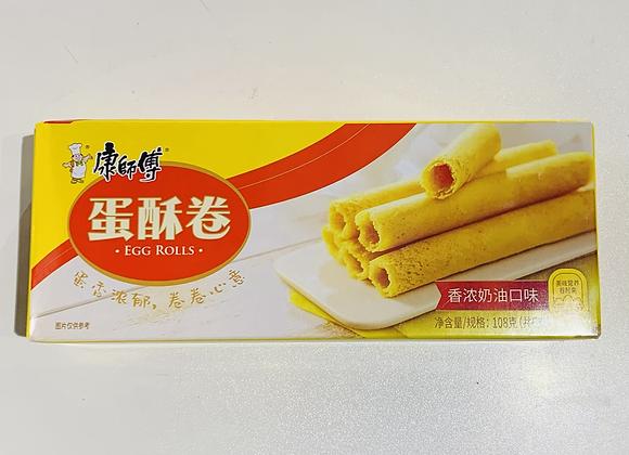 康师傅蛋酥卷-香浓奶油口味 108g KSF Egg Roll-Original Flavour