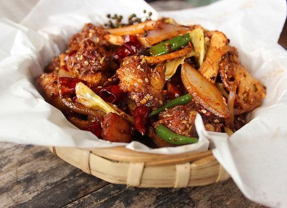 哈辣干锅鸡Griddled Chicken with Chilli