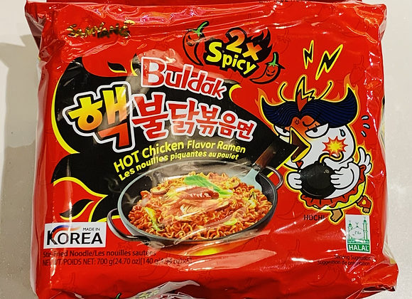 三养双倍辣火鸡面 5×140g Samyang 2×Spicy Hot Chicken Flavour Ramen