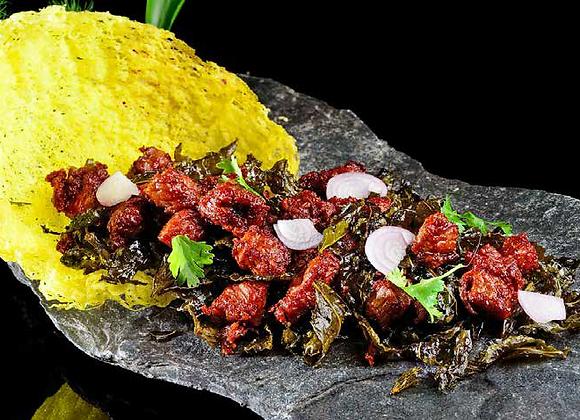 招牌茶香牛肉粒 Dry-fried Beef Cubes Cooked with Oolong Tea