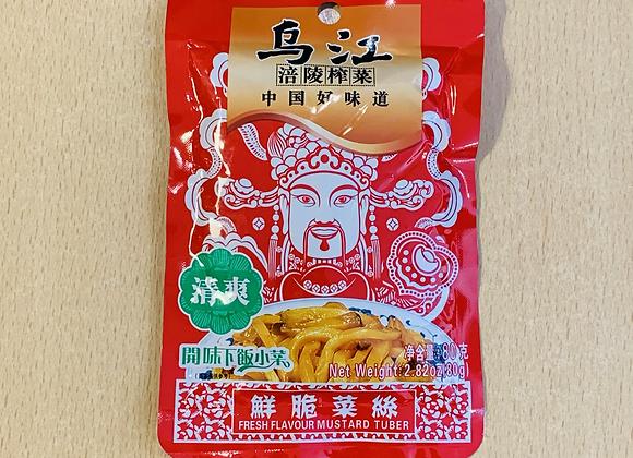 乌江鲜脆榨菜丝 80g WJ Fresh Flavour Mustar Tuber