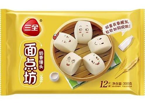 三全奶香馒头300g SQ Steamed Bun with Milk