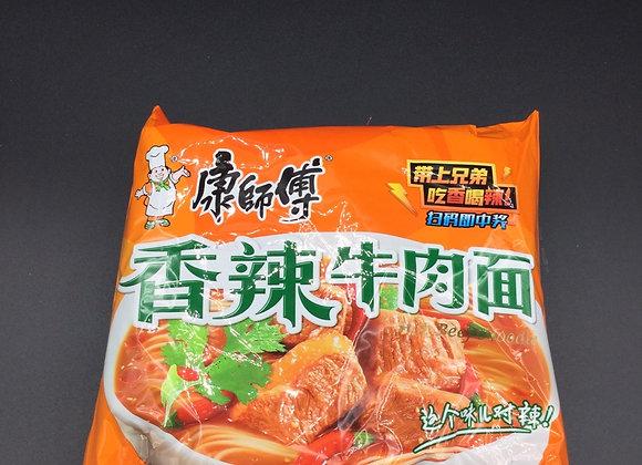 康师傅香辣牛肉面103g KSF Instant Noodles- Artificial Spicy Beef Flavour
