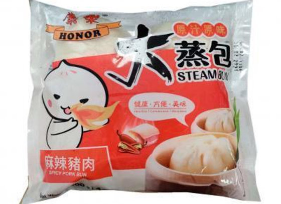 康乐大蒸包-麻辣猪肉 600g Honor Steam Bun-Pspicy Pork with Leek