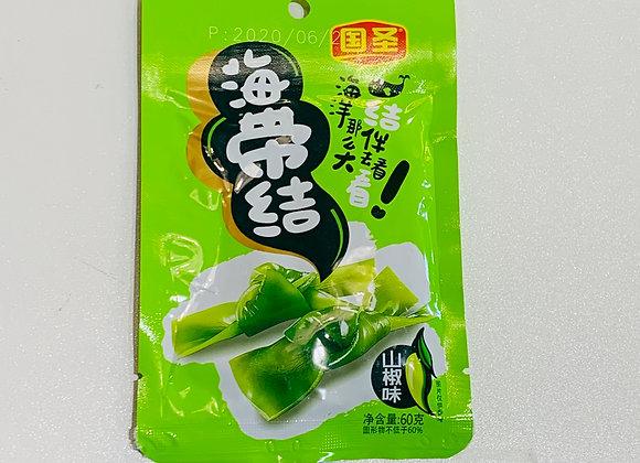国圣海带结-山椒味  60g GS Spicy Kelp Knot