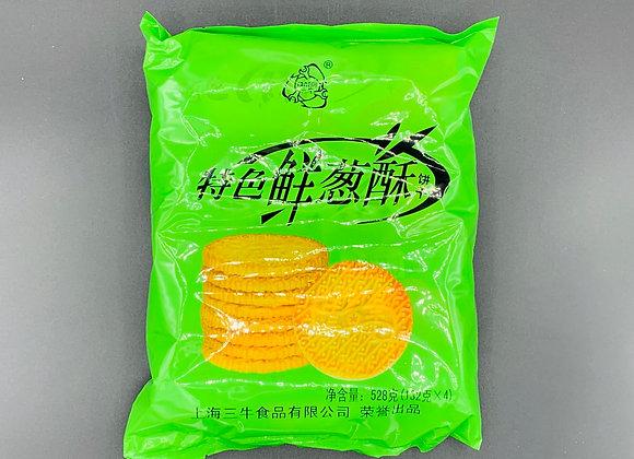 万年青饼干鲜葱酥 528g WNQ Onion Flavour Biscuits
