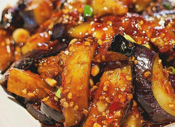 红烧茄子 Red Braised Aubergines