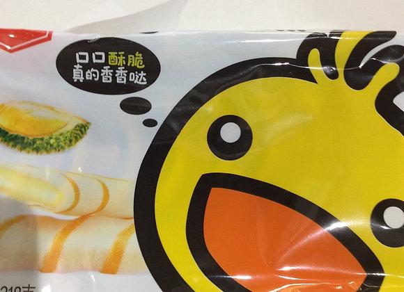 咔啰卡曼榴莲苏蛋卷 218g Kaman Durian Egg Rolls