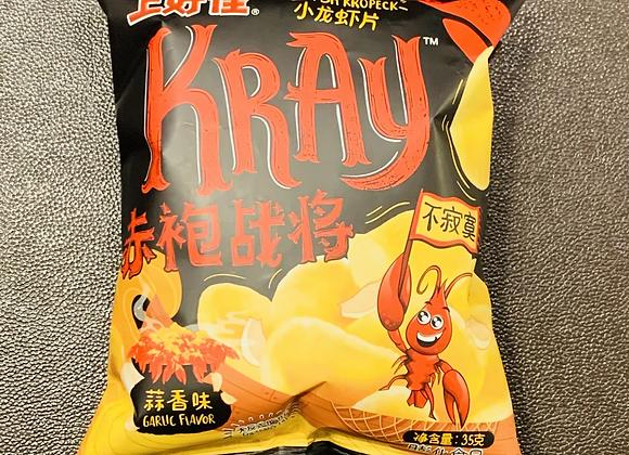 上好佳小龙虾片-蒜香味 35g OS Crayfish Cracker-Garlic