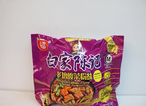 白家红薯粉丝-老坛酸菜 110g BJ Potato Vermicelli -Pickled Cabbage
