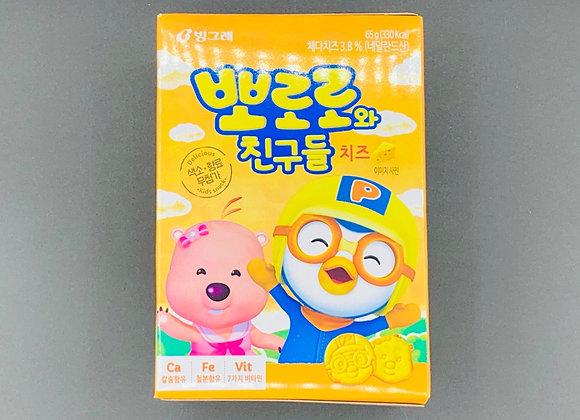 小鸡鸡饼干-芝士味 65g Pororo & Friend Biscuit Cheese