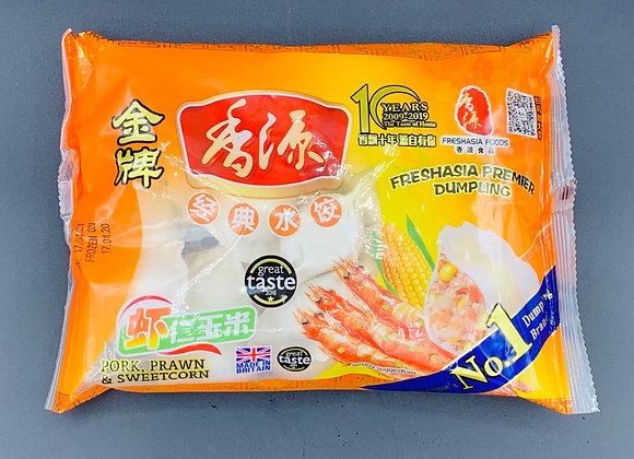 香源水饺-虾仁玉米 400g Freshasia Pork,Prawn & Sweetcorn Dumpling