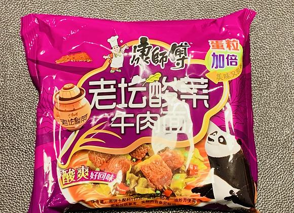 康师傅老坛酸菜牛肉面 117g KSF Instant Noodles-Pickled Artificial Beef Flavour