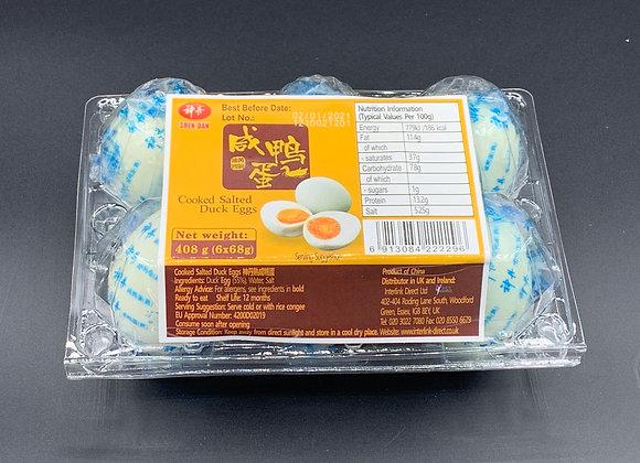 神丹咸鸭蛋6×68g Shen Dan Cooked Salted Duck Eggs