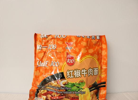 统一红椒牛肉面 108g Unif 100 Instant Noodle-Spicy Beef