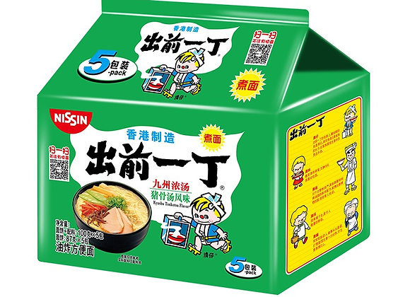 出前一丁方便面-九州浓汤猪骨汤味 5×100g Nissin Demae Ramen(5packs)-Kyushuton