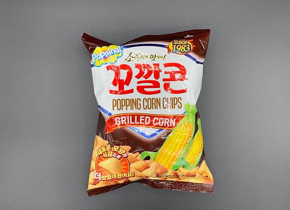 烘焙玉米脆角薯片-烧烤味 72g Kokklacone Popping Corn-Grilled Corn